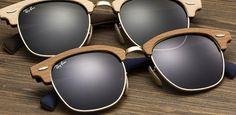 Ray-Ban Clubmaster Wood - Edição especial do Clubmaster em madeira  Adoro esse óculos, muito estilo e personalidade na madeira que está super na moda.