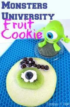 Your kids will LOVE this Monsters University Fruit Cookie #ScareEdu #cbias #shop http://freebies4mom.com/monstersu/