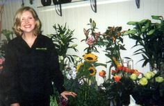 Me working at Glasgow florist 'Buttercup lane'