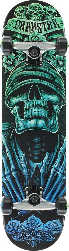 "Darkstar Bandana Green Fade Complete Skateboard - 7.56"" x 31""- now available at Warehouse Skateboards!"