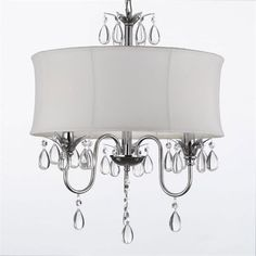 Gallery Lighting 834-3 3 Light Crystal Chandelier
