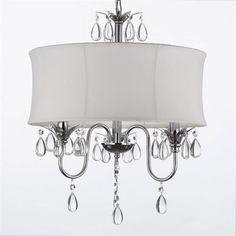 Gallery Lighting 834-3 3 Light Crystal Chandelier
