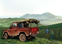 Series III swb Land-Rover in Powis.