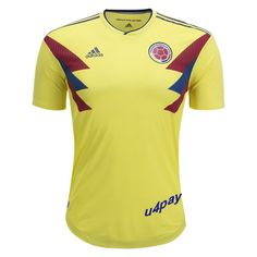 42235700878 2018 World Cup Player Version Jersey Colombia Home Yellow Soccer Shirt