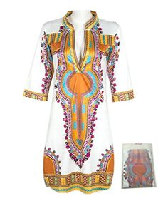 Dh Apple Women Bohemian V Neck Vintage Printed Ethnic Style Summer Shift Dress