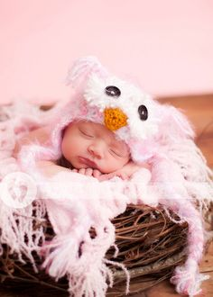 Baby Girls Owl Hat Newborn 3m 6m Crochet Soft Fuzzy Pink Hat Photo Prop Animal Baby Girls Clothes  Perfect year round Halloween Costume on Etsy, Sold