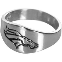 Denver Broncos Logo Sterling Silver Ring