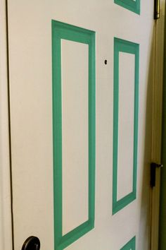 Add a pop of color to the inside of your front door without paint... just add tape! such an easy diy that's great for renters or people wanting a temporary change!