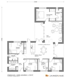 178 M2 V Apartment Plans, Apartment Design, House Outline, 4 Bedroom House Plans, Home Design Floor Plans, House Layouts, House Goals, Architecture, My Dream Home