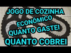 JOGO DE COZINHA BICO RENDADO / QUANTO GASTEI E QUANTO COBREI - YouTube Facebook, Akatsuki, Friends, Youtube, Kitchen Playsets, Crochet Carpet, Crochet Trim, Crochet Doilies, Amigurumi