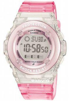 ddd2a839e5211 Pink   cute Baby G Watch Digital Chronograph Watch BG-1302-4ER Casio Baby