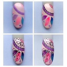 Attrapes rêves nail artYou can find Funky nail art and more on our website. Nail Art Hacks, Nail Art Diy, Cool Nail Art, Diy Nails, Funky Nail Art, Funky Nails, Love Nails, Nail Art Plume, Dream Catcher Nails
