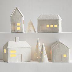 porcelain luminaria village set from RedEnvelope.com