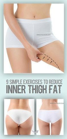 9 Simple Exercises To Reduce Inner Thigh Fat diet workout thigh exercises Fitness Workouts, Easy Workouts, Fitness Tips, Fitness Motivation, Butt Workouts, Fat Workout, Workout Routines, Workout Plans, Thigh Exercises
