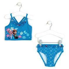 3a77e5915a Disney Store Frozen Queen Elsa/Princess Anna 2-Piece Swimsuit Size 7-8