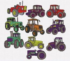 Retrouvez cet article dans ma boutique Etsy https://www.etsy.com/fr/listing/496507640/broderie-machine-tracteurs-10-dessins-de