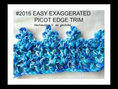 CROCHET PATTERN-  Exaggerated Picot Stitch lace trim-BORDER, #2016yt - YouTube
