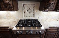 Speartek Sunset Tumbled Tile and Backsplash Detail Decor, Shape Design, Home, Beautiful Design, Custom Homes, New Homes, Custom Home Builders, Building A House, Luxury Homes