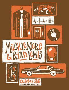 FURTURTLE SHOW PRINTS - MACKLEMORE AND RYAN LEWIS $25