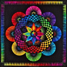 black and rainbow quilts | This pattern has been made by so many quilters in the world and ...