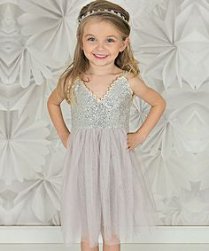 Love this Silver Sequin Tank Dress - Infant, Toddler & Girls on #zulily! #zulilyfinds