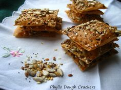 Philo dough crackers!!!!! Might be almost as good as my bagel chips!
