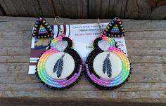 Mother daughter set of beaded earrings, Cheyenne Noon https://www.facebook.com/CheyenneNoonBeadwork?fref=photo