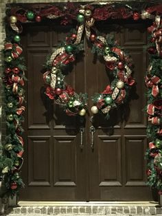 Extra Large Wreath Cute In Half And Decorated For Double
