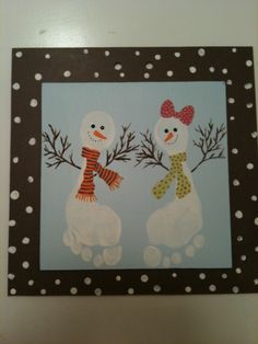 Easy And Fun Christmas Crafts For Kids - Handprint And Footprint Art Easy And Fun Christmas Handprint And Footprint Crafts For Kids Fun Christmas Activities, Holiday Crafts For Kids, Winter Christmas, Kids Christmas, Preschool Crafts, Kids Crafts, Footprint Crafts, Girl And Dog, Hand Art