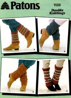 Knit Leg Warmers PATTERN Ankle Warmers by VintagelyPatternly