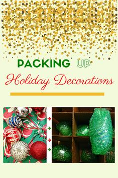 It's that time to take down the holiday decor and get ready for the New Year. Take a look at our tips for getting everything packed securely and safely. #NewYear #HolidayCleanup #2020 Winter Holidays, Happy Holidays, Moving Supplies, Pack Up, Packing Boxes, Organizing Your Home, Diy Organization, Getting Organized, Holiday Decorations