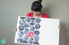 Beehive Pattern Photo Display