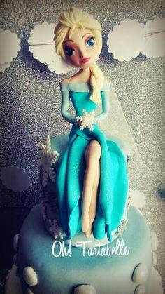 Frozen Disney, Elsa pasta de goma, Elsa gum paste