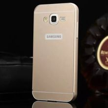 J5 Aluminum Metal Frame And PC Back Cover Case For Samsung Galaxy J5 J500 Cell Mobile Phone Bag Cases