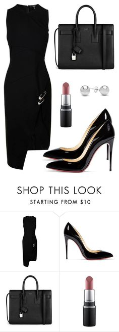"""""""Sem título #5511"""" by beatrizvilar ❤ liked on Polyvore featuring Versus, Christian Louboutin, Yves Saint Laurent, MAC Cosmetics and Jewelonfire"""
