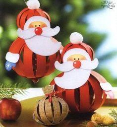 Papai Noel de papel , veja os moldes