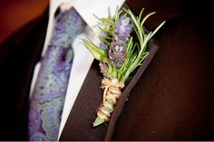 History+Of+Boutonniere | lavendar summer boutonnieres, wedding flowers ideas and trends