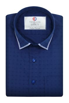 Thermo Dobby - ₹2,260/-  Just the right amount of navy, Whether you're throwing it back to the golden age of Ivy Style or the 'menswear' movement of the last few years, this classic dobby cloth is the perfect option. #Business #Casual #Shirt #Shirts #Corporate #Fabrics #Luxury#Handcrafted #Custommade #Fashion #Style #Custom #Checks #Solids #Pastels #Checkered #Fun#Quirky #Men #Women #MenFashion #WomenFashion