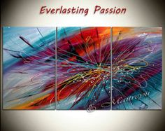 Large Wall Art ABSTRACT PAINTING Acrylic Wall by largeartwork