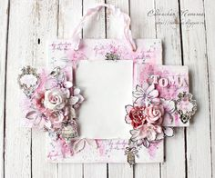 Flowers make every project even more perfect...like this sweet frame by Tatiana C. And check out her fussy-cutting too! #homedecor #pink #PPP #prima