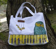 Painted BBC bags by Push Design art & crafts, via Behance Bbc, Diaper Bag, Reusable Tote Bags, Behance, Art Crafts, Design Art, Craft, Diaper Bags, Art Projects