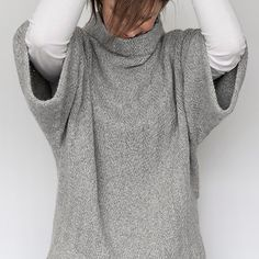 Oversized pullover with subtle herringbone pattern! would look great with skinny jeans or leggings and boots