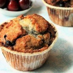 Muffins myrtilles-coco sans gluten et sans oeufs