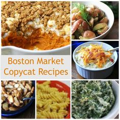 Boston Market is well known for its lunches and dinners that taste like delicious home cooked meals. With these restaurant copycat recipes, you can make your own fantastic home cooked meals without a taking trip to a restaurant.