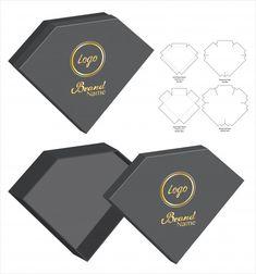 Box design boxes die cut Vectors, Photos and PSD files Jewelry Packaging, Box Packaging, Packaging Design, Diy Gift Box, Diy Box, Paper Box Template, Vintage Logo Design, Box Design, Diy Tutorial