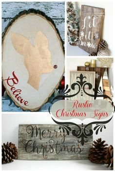 Rustic Christmas Signs We Love- B. Lovely Events