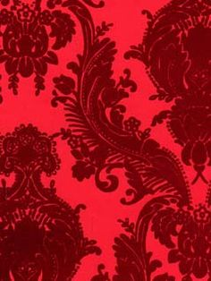 I like the bold hue and rich velvet texture of this wallpaper. It would anchor as a focal wall or possible two? - VC0622 - Wallpaper | VELVET COLLECTIBLES TOO | AmericanBlinds.com