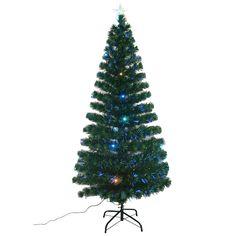 6' Artificial Christmas Tree with Fiber Optic Lights