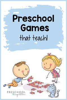 Games for preschool kids teach some great skills, but are also super FUN! These indoor group games are great for a classroom or at home with family. Games For Preschoolers Indoor, Group Games For Kids, Card Games For Kids, Activities For Adults, Christmas Activities For Kids, Educational Games For Kids, Fun Group, Preschool Board Games, Preschool At Home