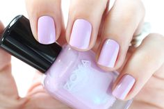 Zoya Spring 2015 Swatches Delight Leslie Light Purple Metallic Shimmer Nail Polish